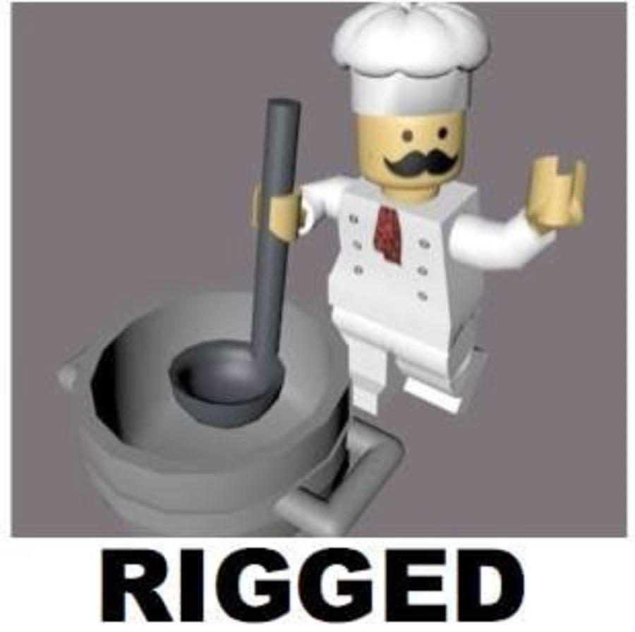 LEGO Arma Şef Karakteri royalty-free 3d model - Preview no. 1