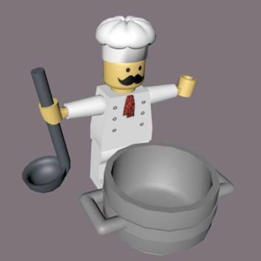 LEGO Arma Şef Karakteri royalty-free 3d model - Preview no. 8