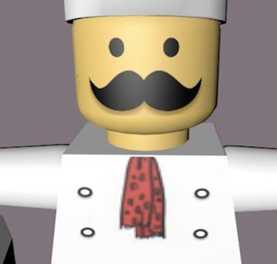 LEGO Arma Şef Karakteri royalty-free 3d model - Preview no. 6