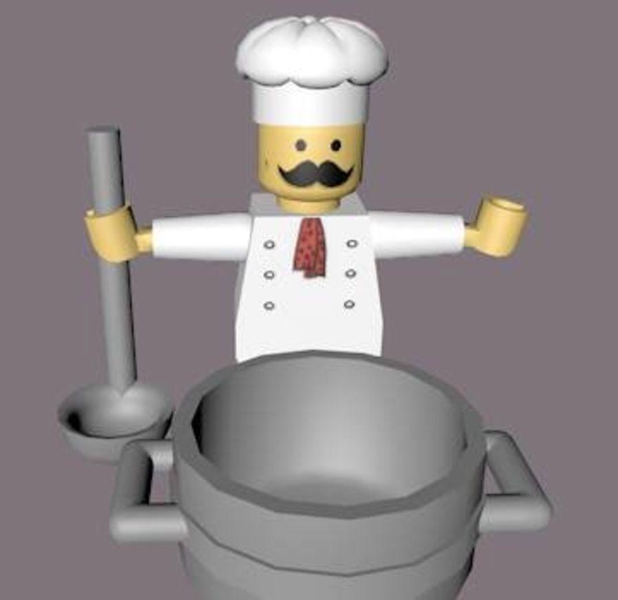 LEGO Arma Şef Karakteri royalty-free 3d model - Preview no. 7