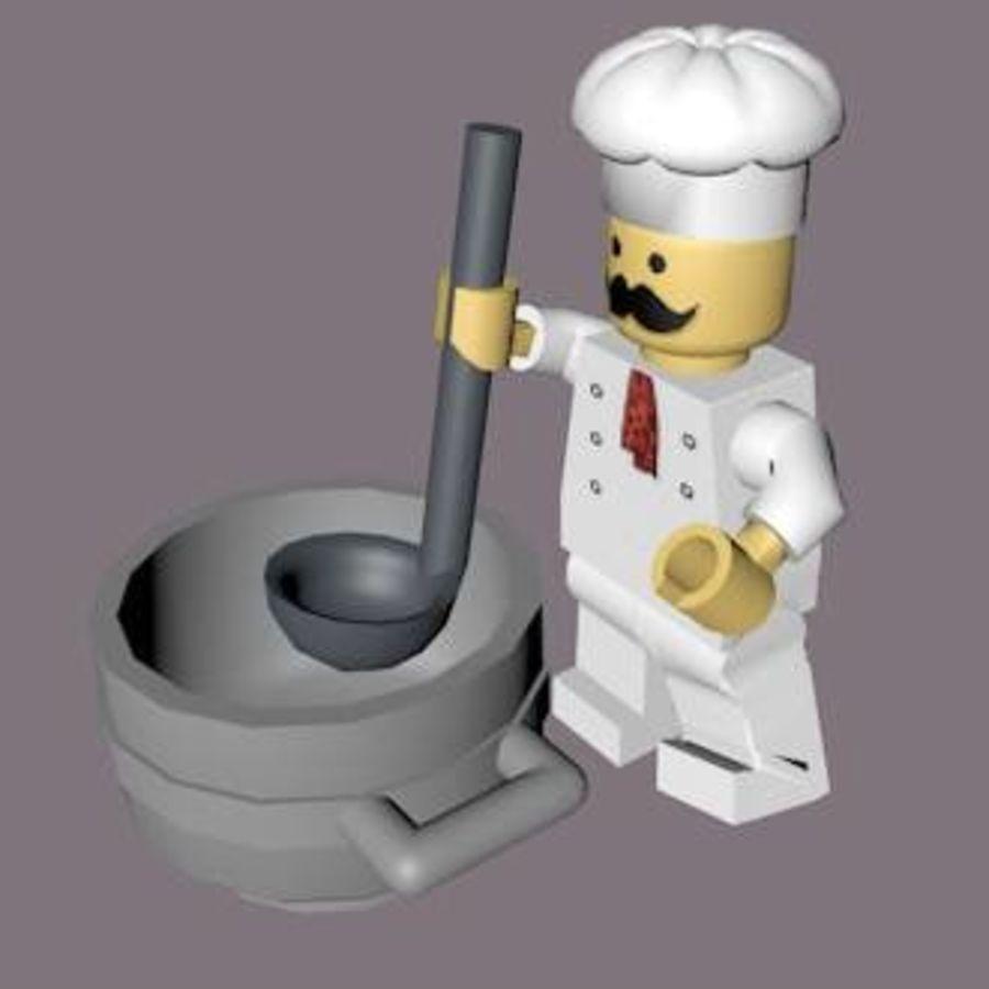 LEGO Arma Şef Karakteri royalty-free 3d model - Preview no. 2