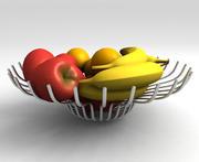 Chrome Spireli Fruit Bowl 3d model