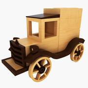 Wooden Toy Car(1) 3d model