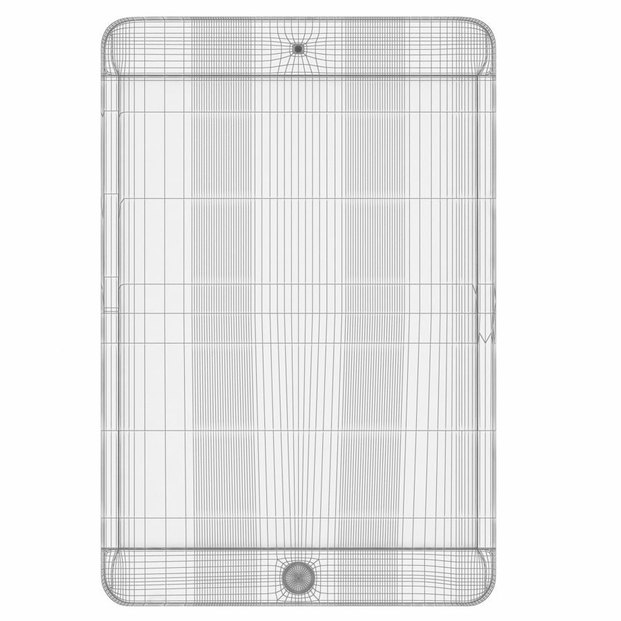 Apple iPad Mini 3 Silver royalty-free 3d model - Preview no. 5