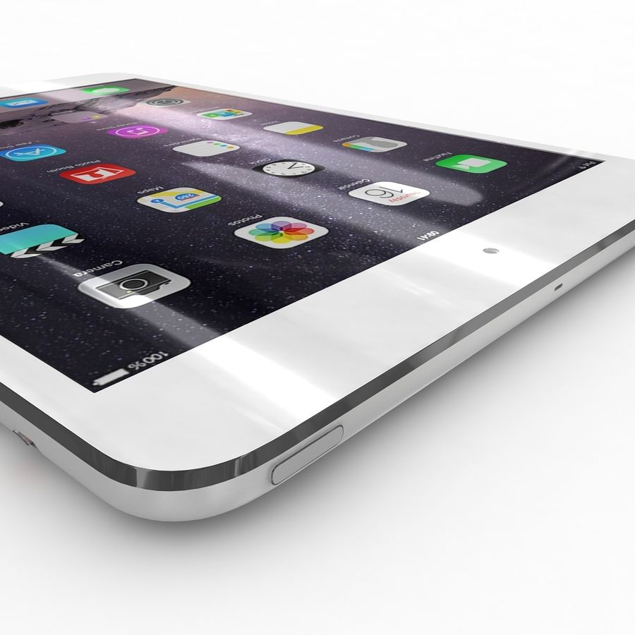 Apple iPad Mini 3 Silver royalty-free 3d model - Preview no. 22