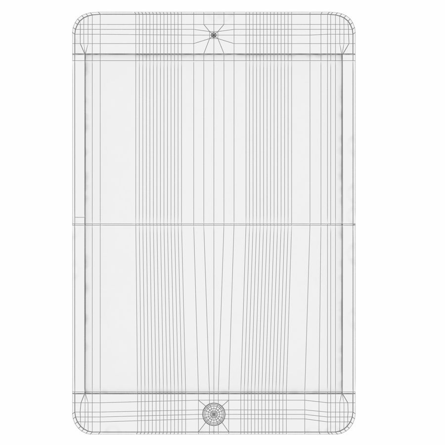 Apple iPad Mini 3 Silver royalty-free 3d model - Preview no. 4