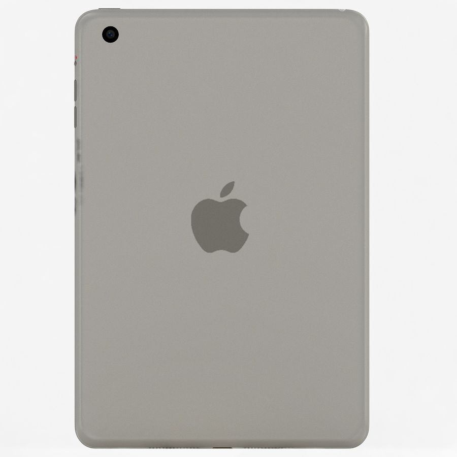 Apple iPad Mini 3 Silver royalty-free 3d model - Preview no. 7