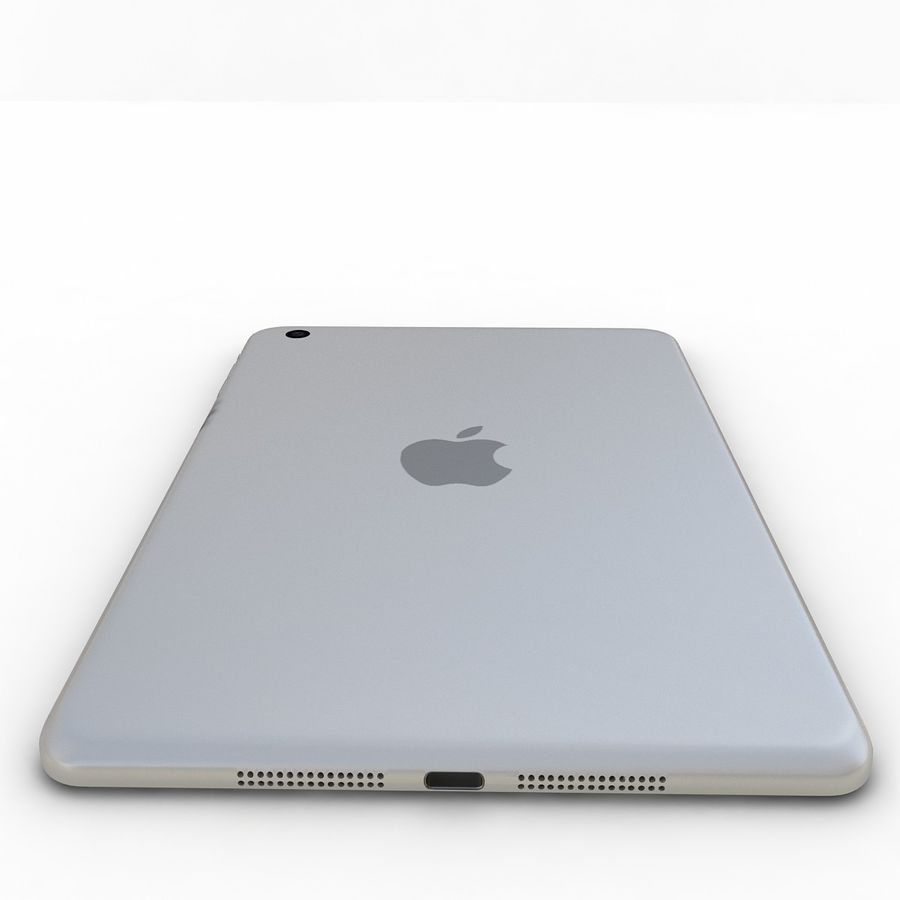 Apple iPad Mini 3 Silver royalty-free 3d model - Preview no. 20