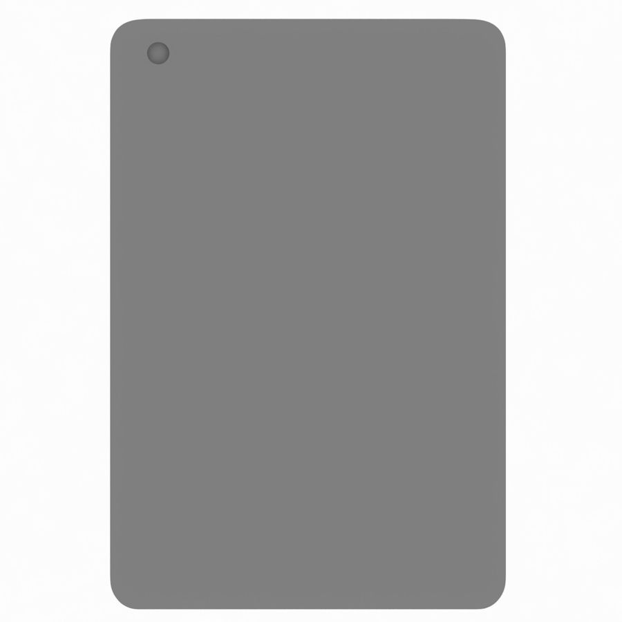 Apple iPad Mini 3 Silver royalty-free 3d model - Preview no. 10