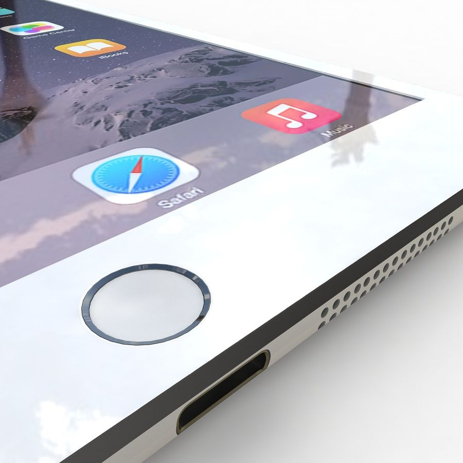 Apple iPad Mini 3 Silver royalty-free 3d model - Preview no. 14