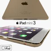苹果iPad Mini 3金 3d model