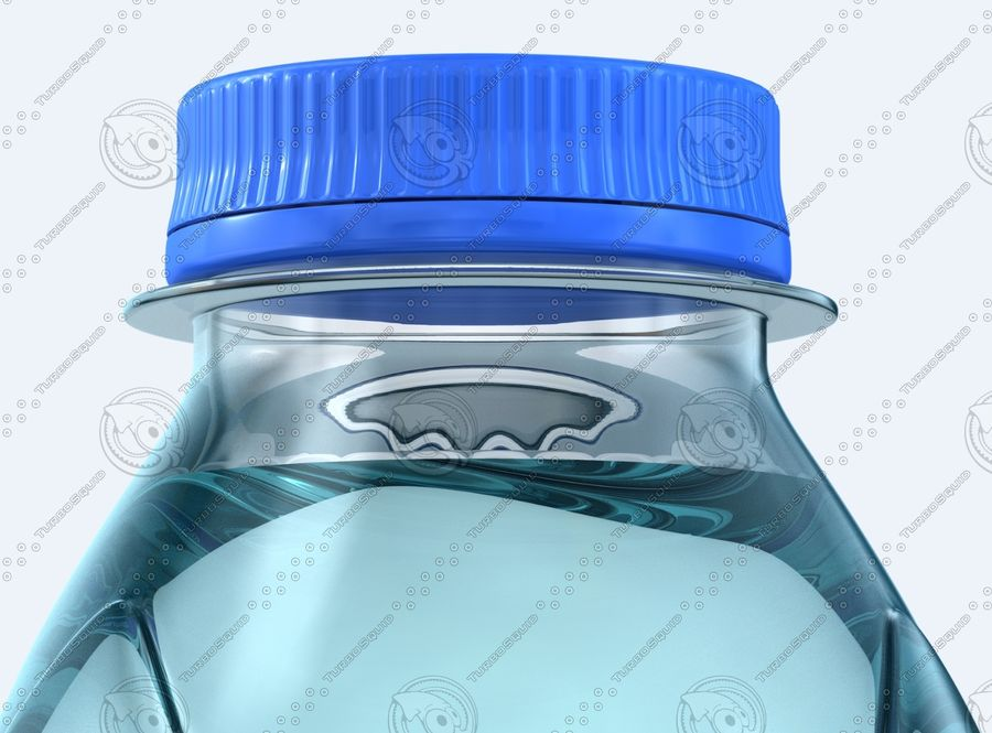 Water Bottles royalty-free 3d model - Preview no. 8