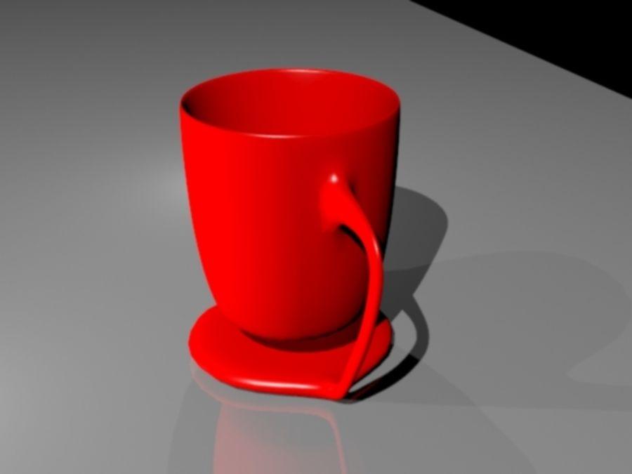 taza de san valentín royalty-free modelo 3d - Preview no. 4