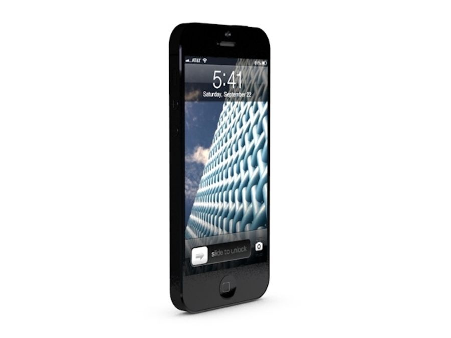 iPhone 5 royalty-free 3d model - Preview no. 9