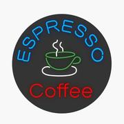 Espresso Neon Sign 3d model