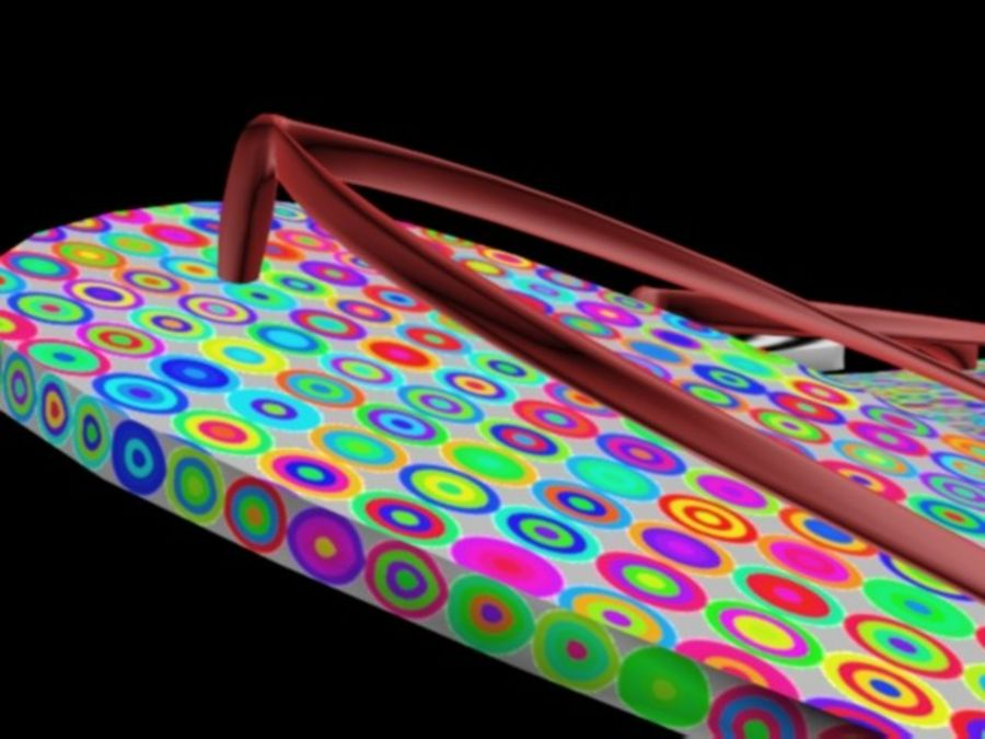 flip flops royalty-free 3d model - Preview no. 5