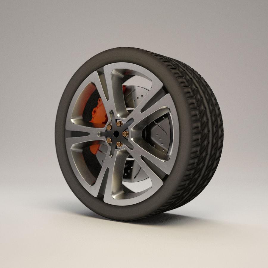 車のホイール royalty-free 3d model - Preview no. 1