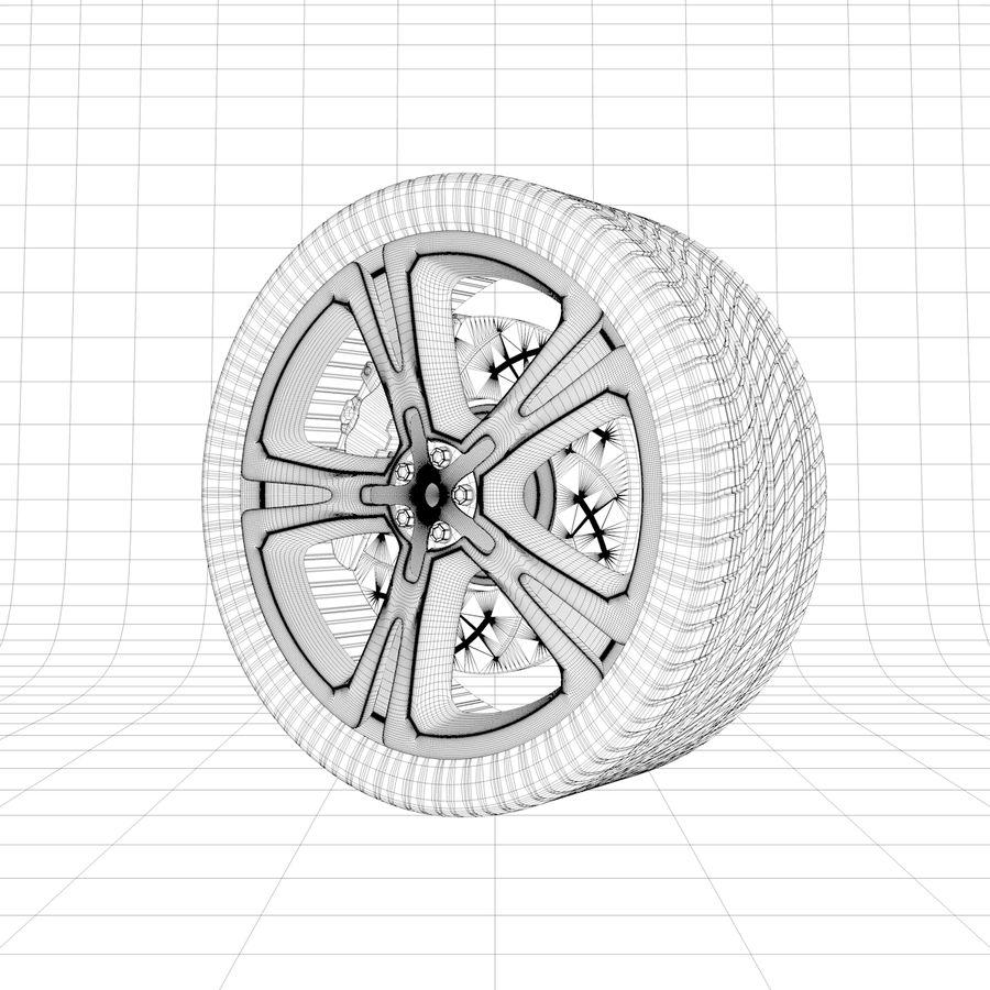 車のホイール royalty-free 3d model - Preview no. 4
