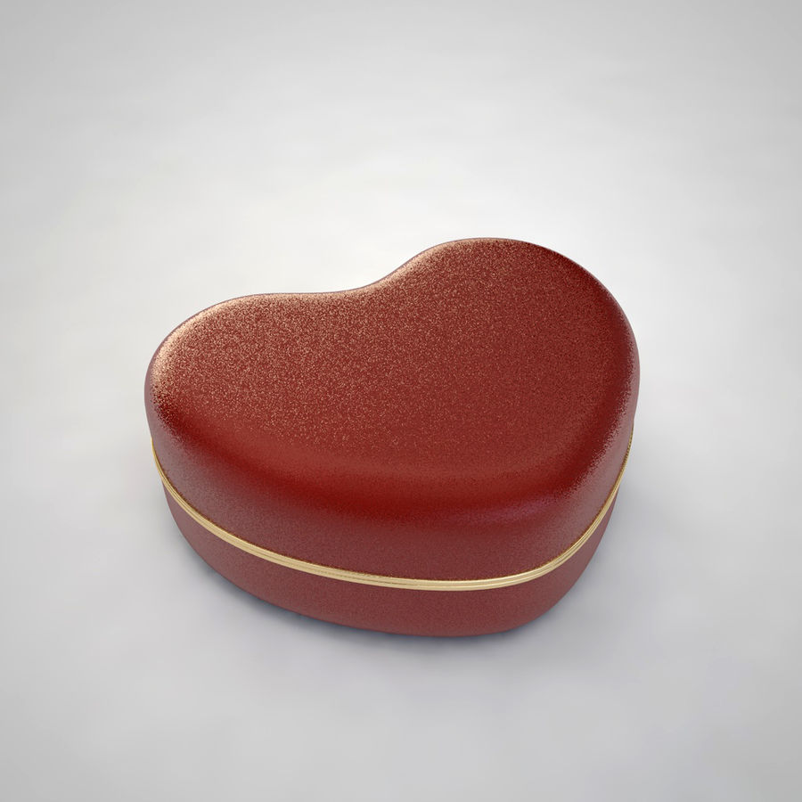 Heart Box royalty-free 3d model - Preview no. 4