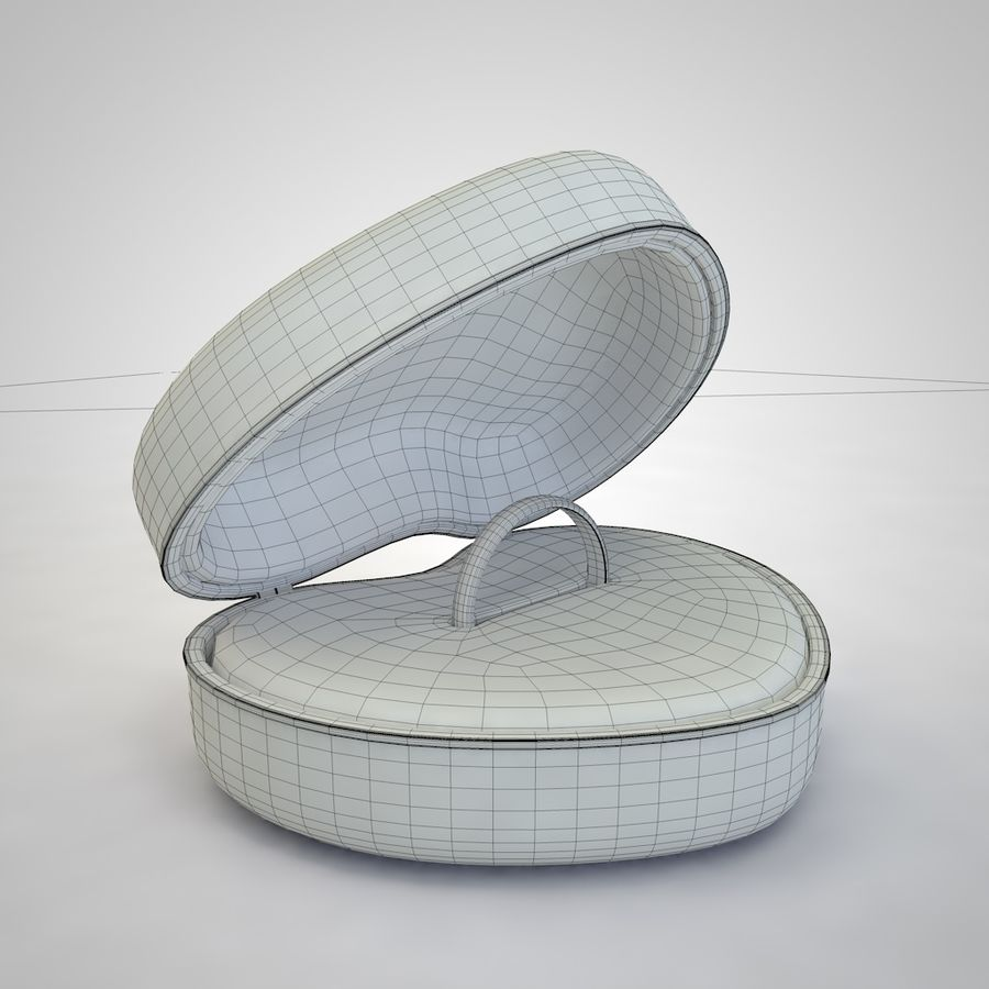 Heart Box royalty-free 3d model - Preview no. 7