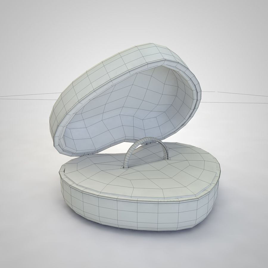 Heart Box royalty-free 3d model - Preview no. 11