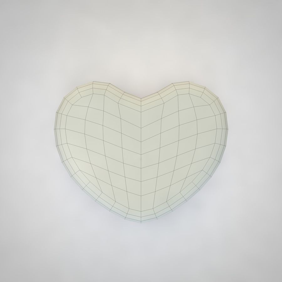 Heart Box royalty-free 3d model - Preview no. 10