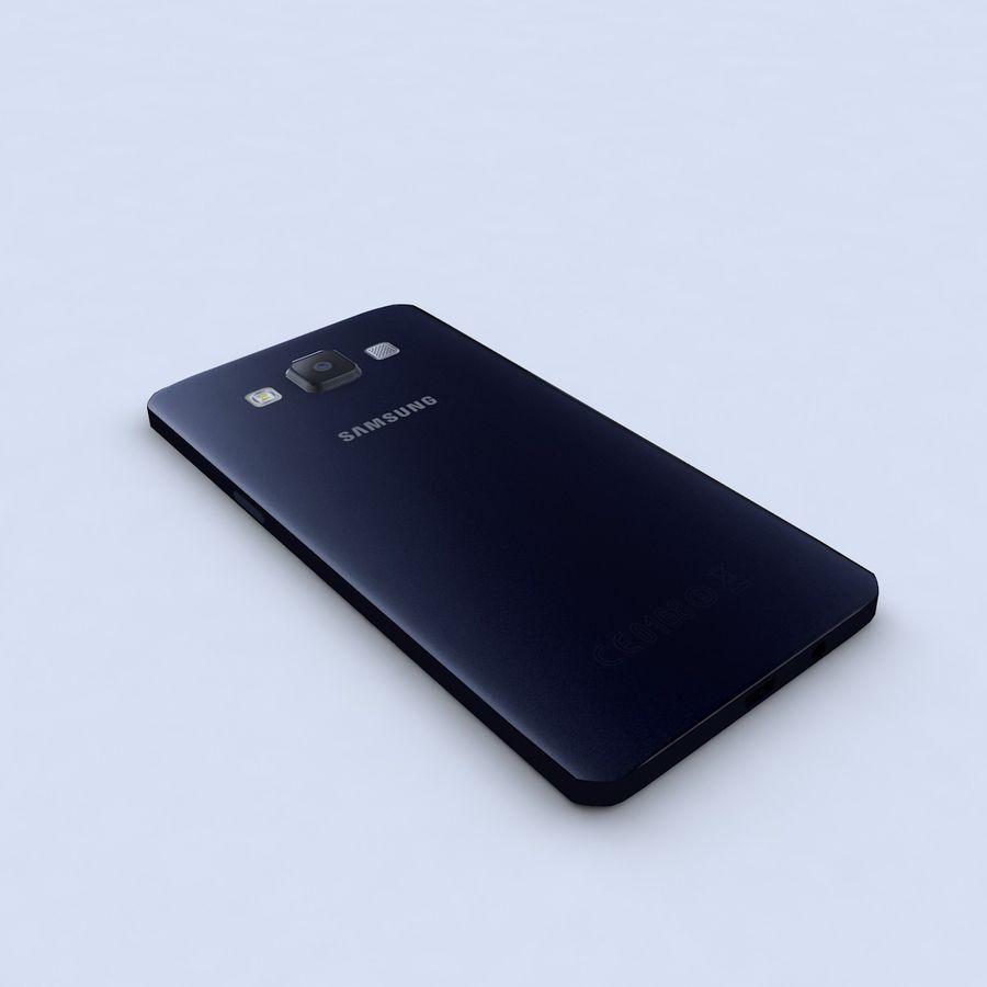 Samsung Galaxy A5 Preto royalty-free 3d model - Preview no. 6