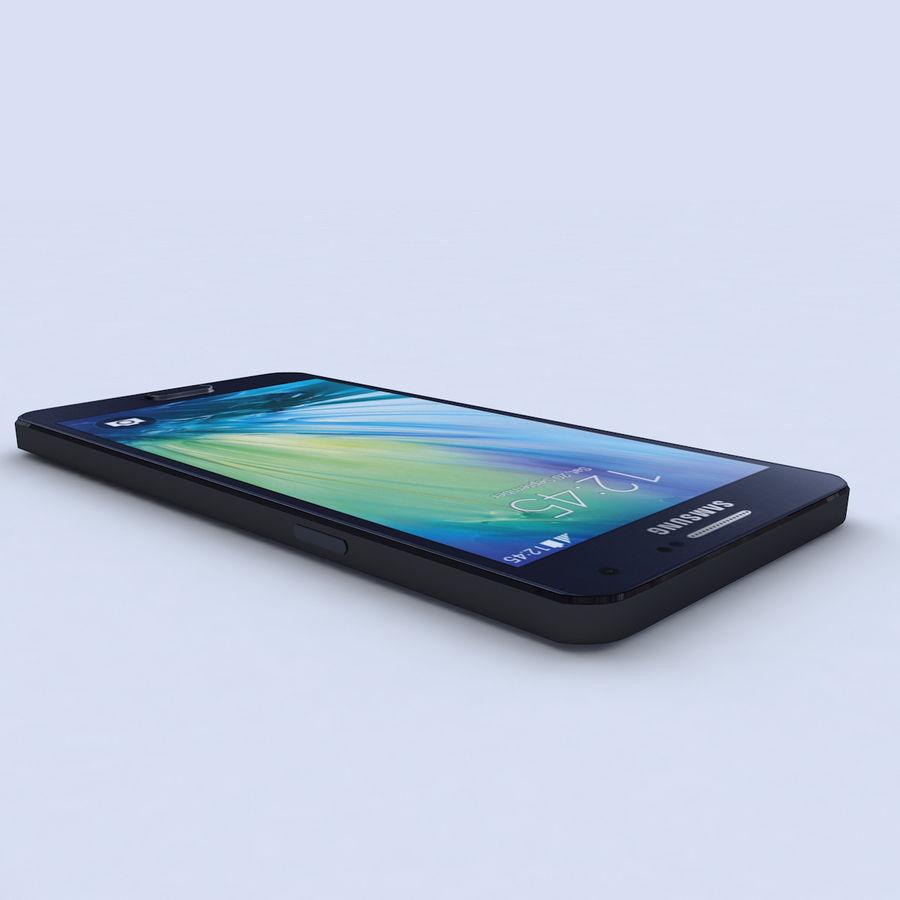 Samsung Galaxy A5 Preto royalty-free 3d model - Preview no. 4