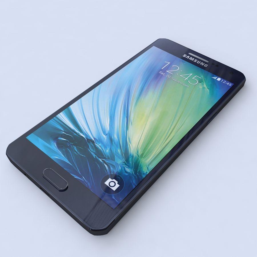 Samsung Galaxy A5 Preto royalty-free 3d model - Preview no. 1