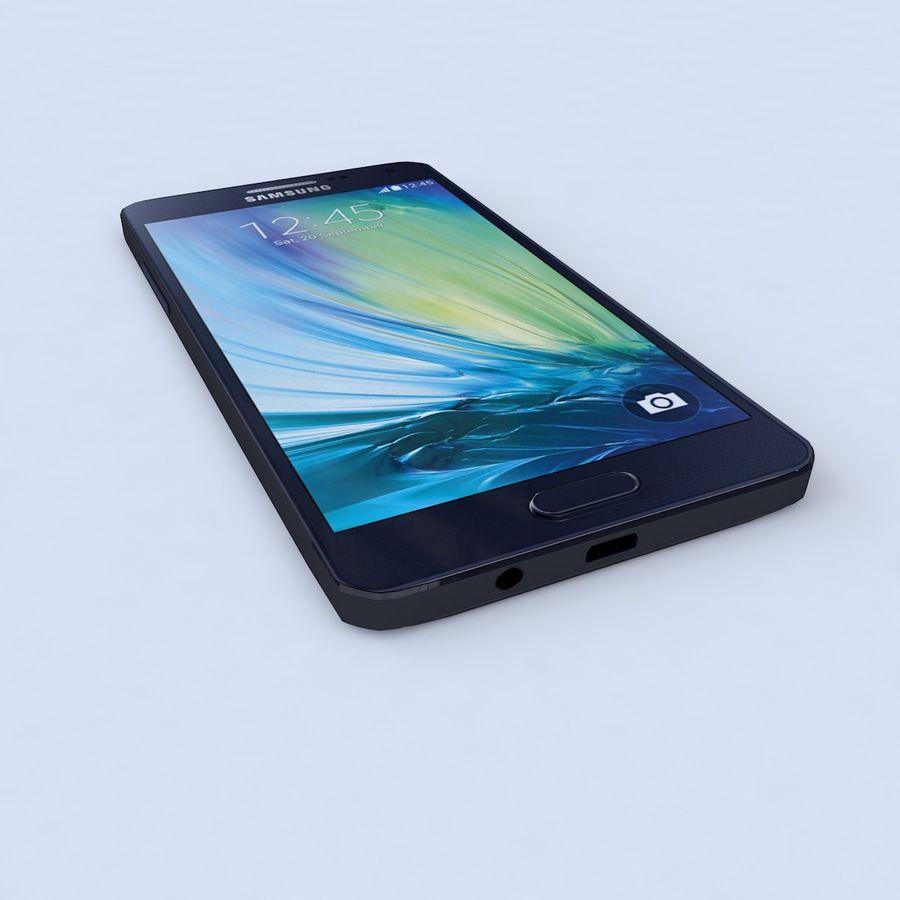 Samsung Galaxy A5 Preto royalty-free 3d model - Preview no. 2
