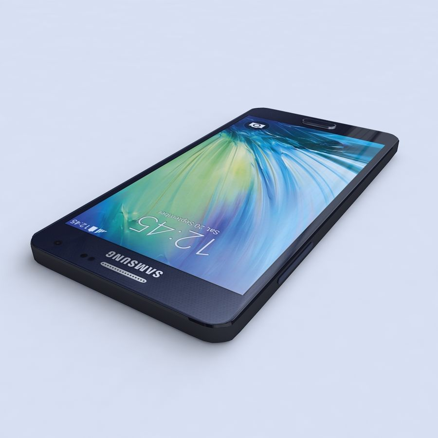 Samsung Galaxy A5 Preto royalty-free 3d model - Preview no. 3