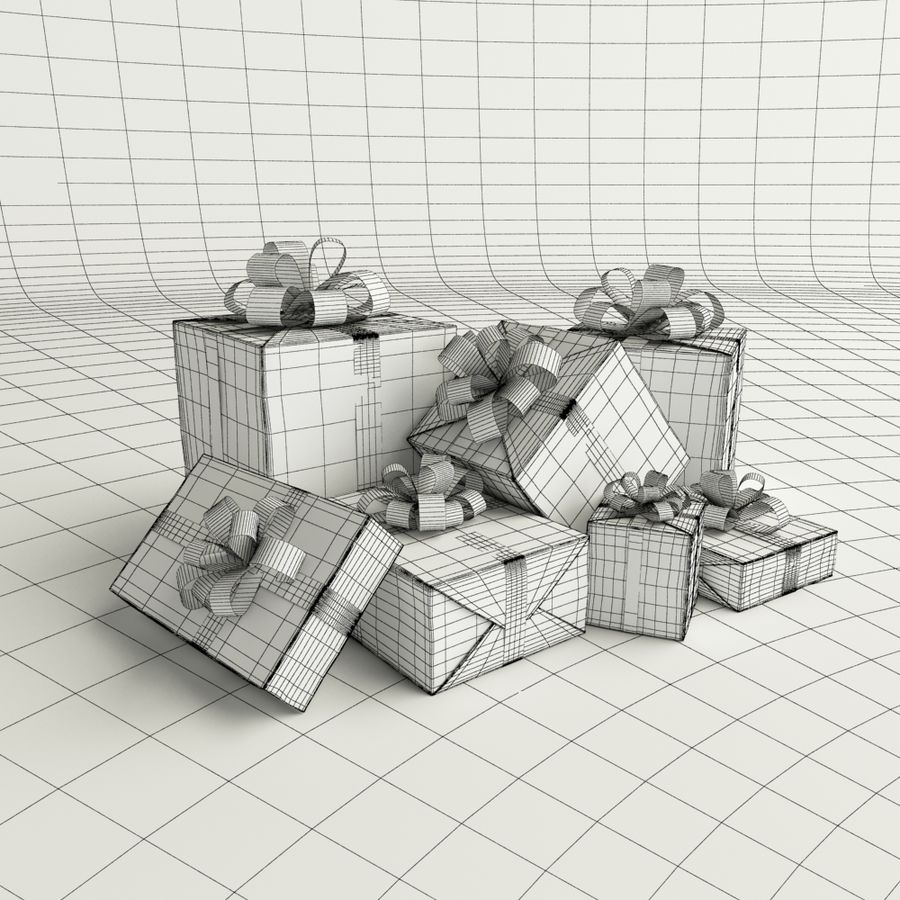Geschenkbox royalty-free 3d model - Preview no. 4