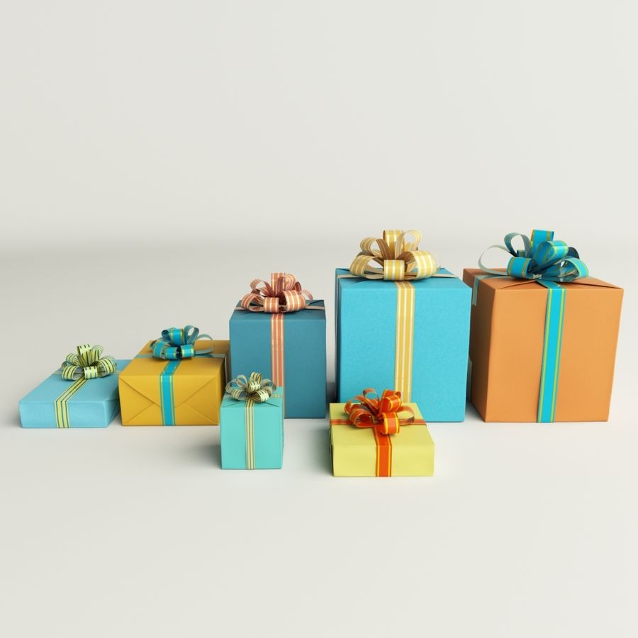 Geschenkbox royalty-free 3d model - Preview no. 3