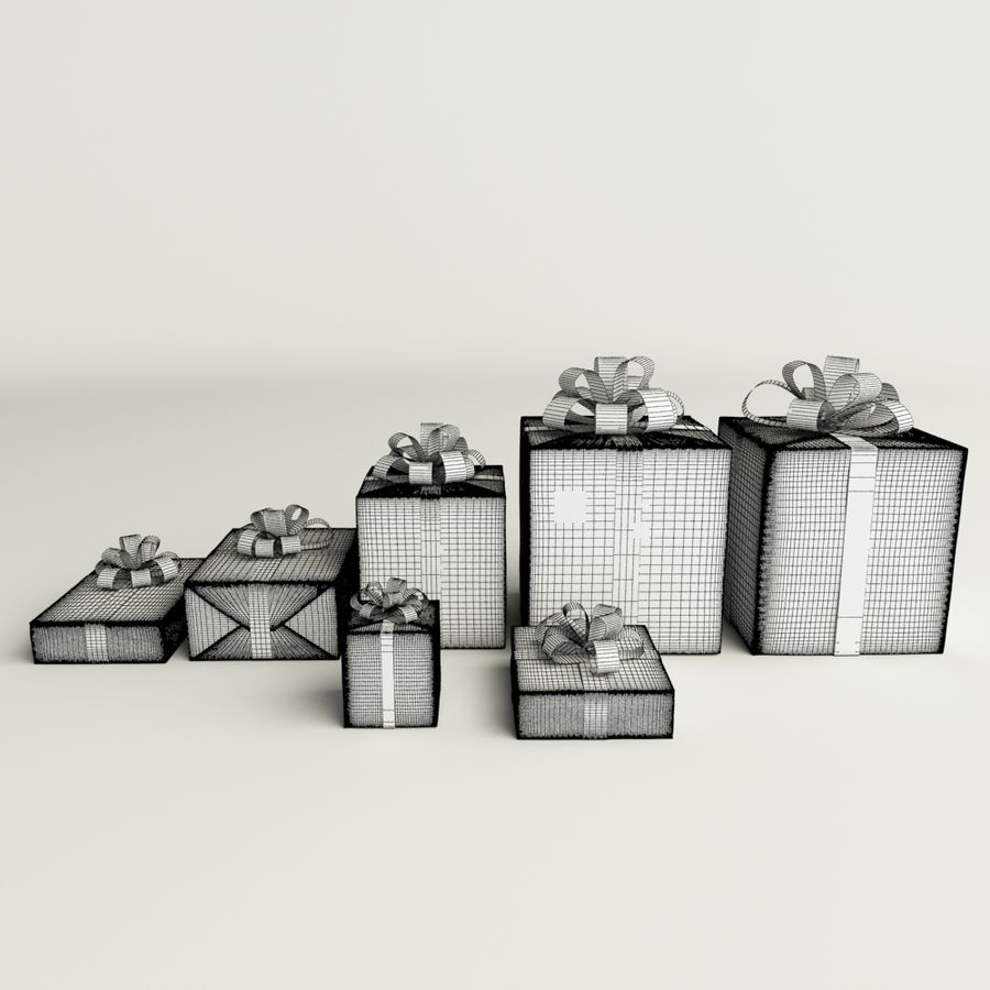 Geschenkbox royalty-free 3d model - Preview no. 5
