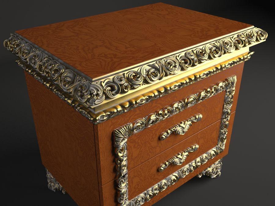 ベッドサイドテーブル royalty-free 3d model - Preview no. 2