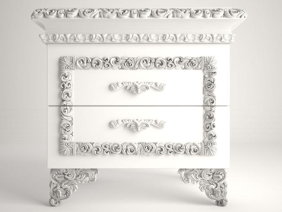 ベッドサイドテーブル royalty-free 3d model - Preview no. 5
