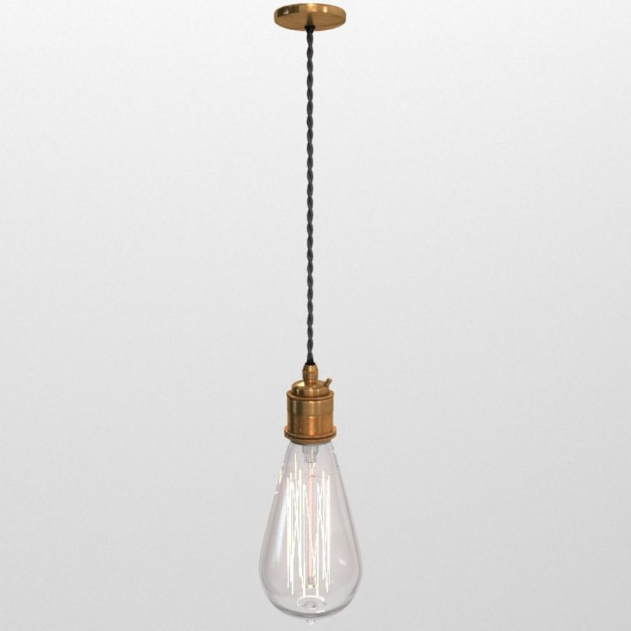 Lampa vintage 02 royalty-free 3d model - Preview no. 8