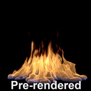 large flame pre-rendered 3d model