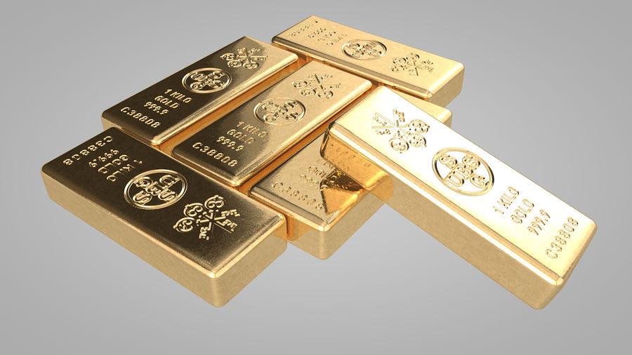 Sztabki złota royalty-free 3d model - Preview no. 2