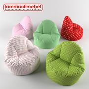 puf de silla con puf modelo 3d