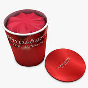 Ice Cream - Strawberry 3d model