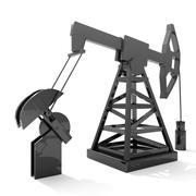 oil derrick animated 3d model