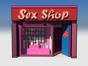 Maya Cartoon Sex Shop 3d model