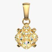 单颗钻石项链 3d model