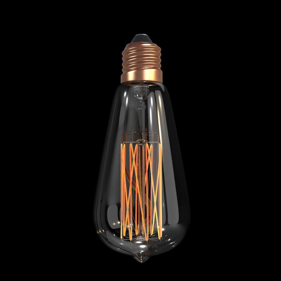 Bombilla Edison royalty-free modelo 3d - Preview no. 3