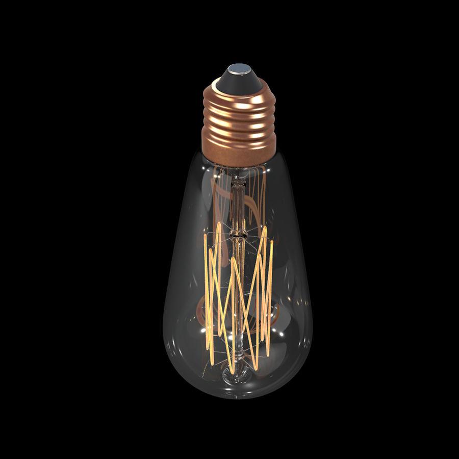 Bombilla Edison royalty-free modelo 3d - Preview no. 4