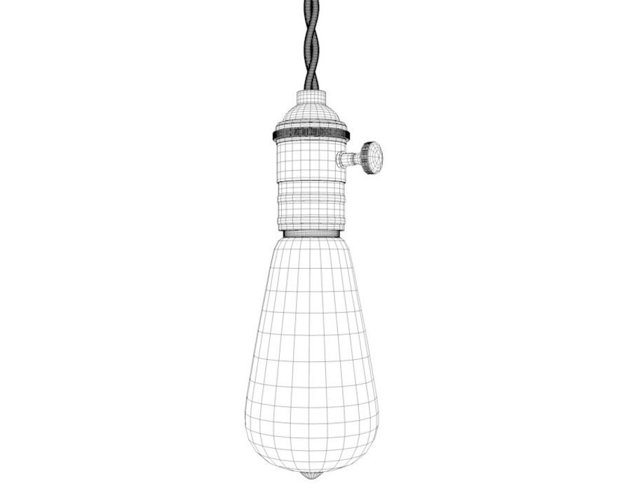 Bombilla Edison royalty-free modelo 3d - Preview no. 8