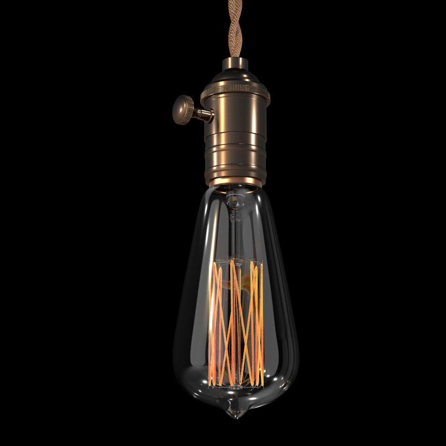 Bombilla Edison royalty-free modelo 3d - Preview no. 1
