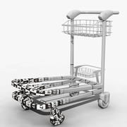 Airport Trolley Model 3d model