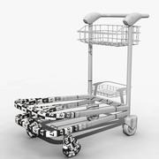 Modèle de chariot à aéroport 3d model